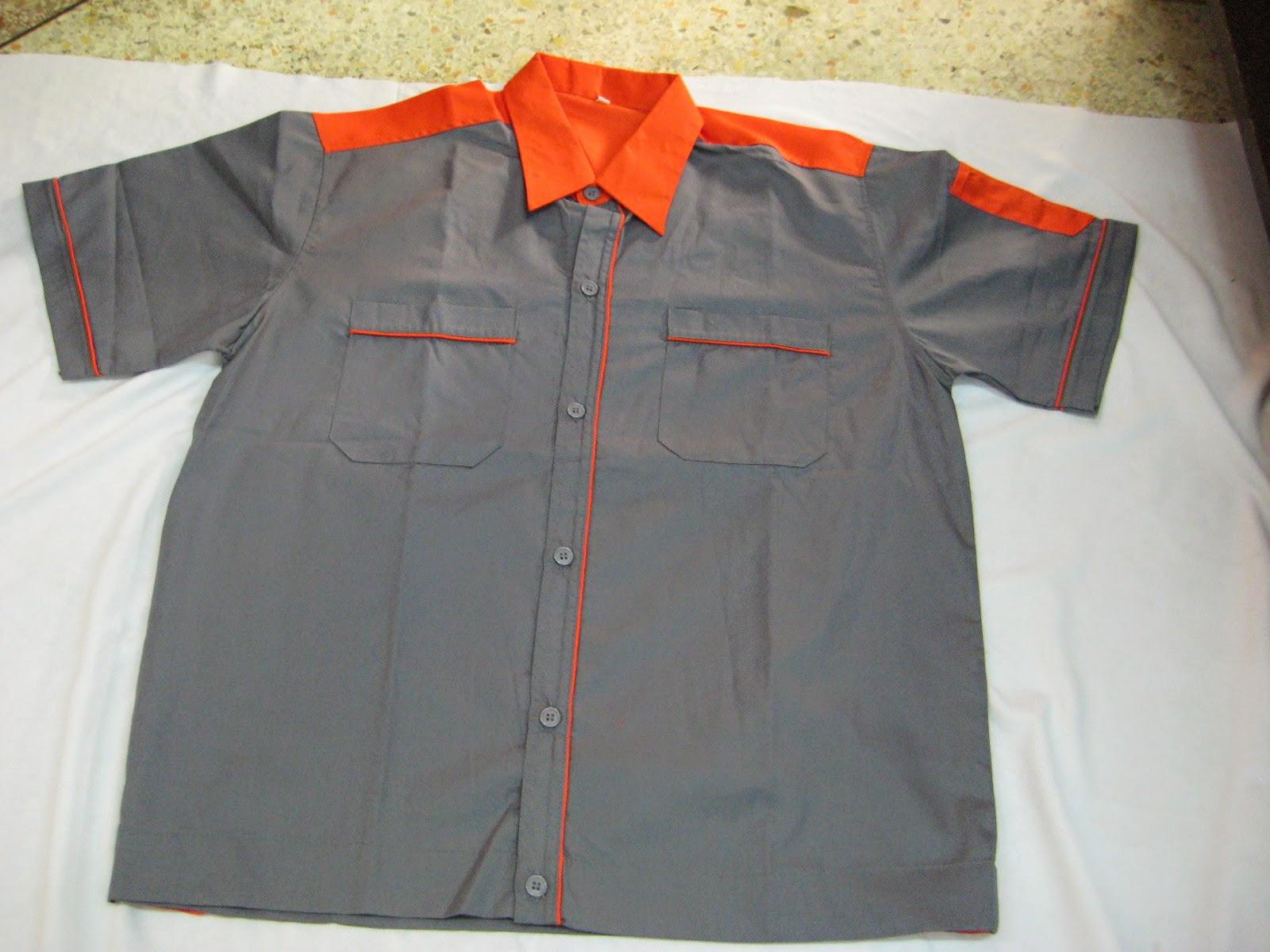 เสื้อช็อปตัดต่อสี (แขนสั้น) รุ่น B