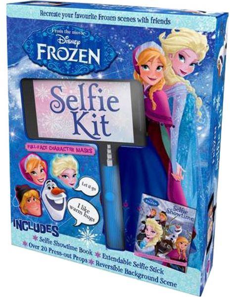 Disney Princess Parragon : Frozen Selfie Kit : Selfie Book + Masks + Press out Props + Selfie stick + Reversible Scene : เซตเซลฟี่ โฟรเซ่น เอลซ่า อันนา Elsa Anna