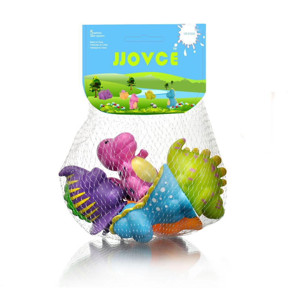 ของเล่นลอยน้ำ ชุดตุ๊กตาไดโนเสาร์พ่นน้ำ 5 ตัว JJOVCE