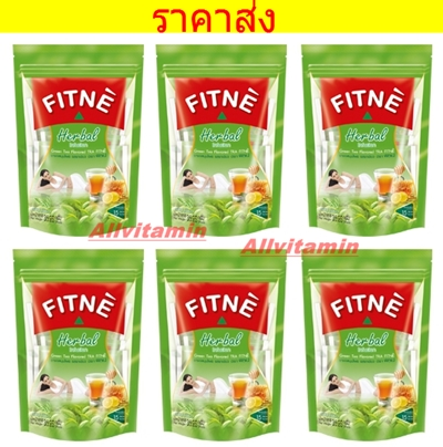 FITNE' HERBAL INFUSION GREEN TEA FLAVORED - 6 * 8 P