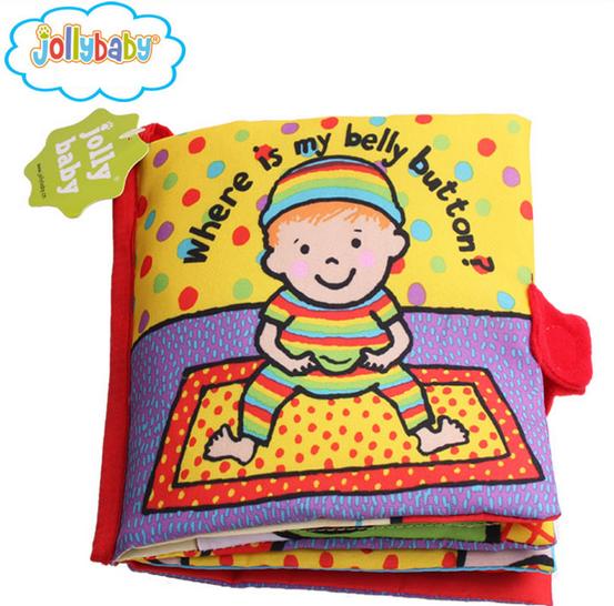 หนังสือผ้า Where is my belly bottom? by JollyBaby