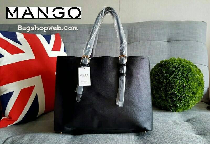 กระเป๋า Mango รุ่น Tote Bag กระเป๋าคล้องแขน หนัง Saffiano แบบ Hi-End ยี่ห้อ ดีไซน์เก๋