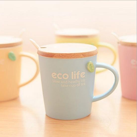 แก้วเซรามิค eco life รักษ์โลก (ทรงสั้น) <พร้อมส่ง>