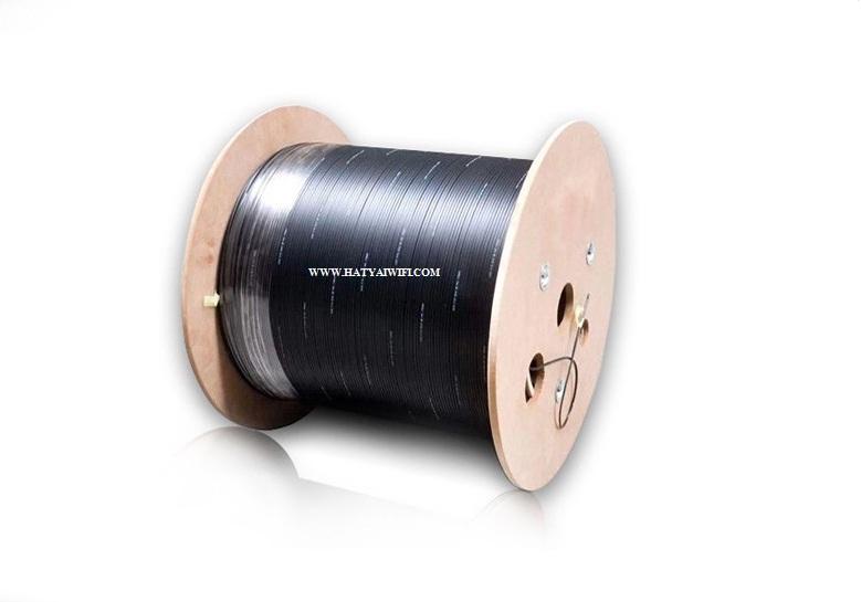 สายไฟเบอร์ออฟติก 2 คอร์ มีสลิง 2,000 เมตร ( Drop wire Fiber Optic 2 Core )