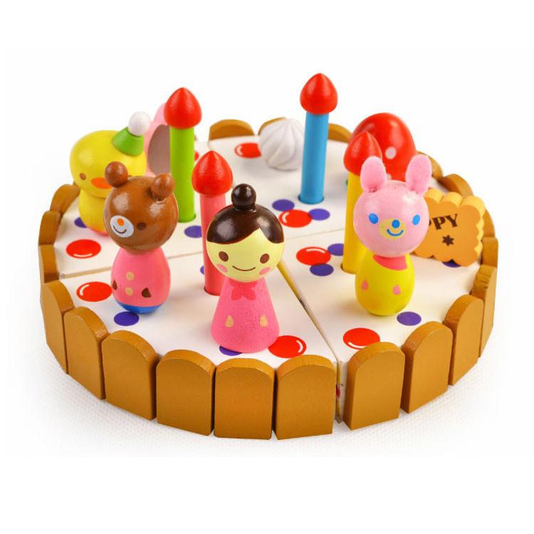 ของเล่นไม้ เซตตกแต่งหน้าเค้ก Wooden Decoration Cake Set by Mother Garden