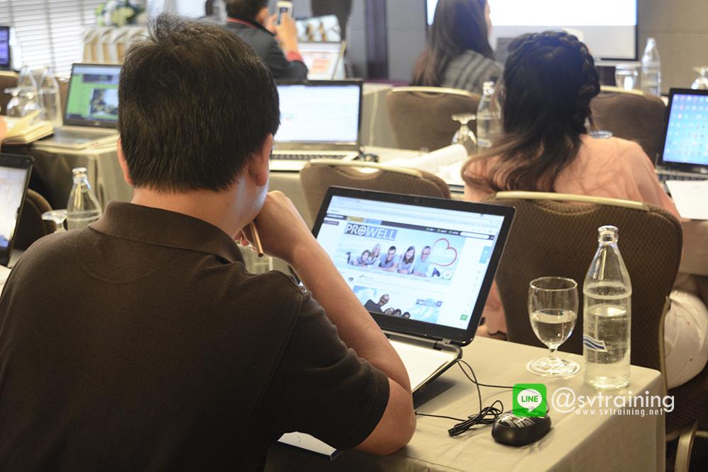 สอนสร้างเวปไซต์และสอนfacebookแก่ผู้ประกอบการโดยอาจารย์ใบตองsvtraining