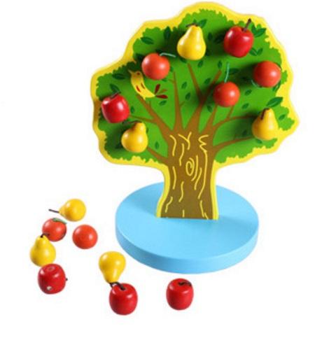 ของเล่นไม้ ต้นผลไม้มีแม่เหล็กดูดติด สอนนับเลข-บวกเลข