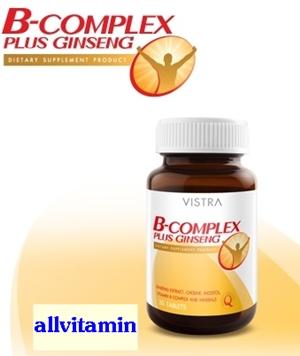 Vistra B-Complex Plus Ginseng 30 tab