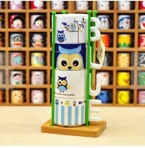 ชุดแก้ว Letter ceramic Cup ลายนกฮูก < พร้อมส่ง >