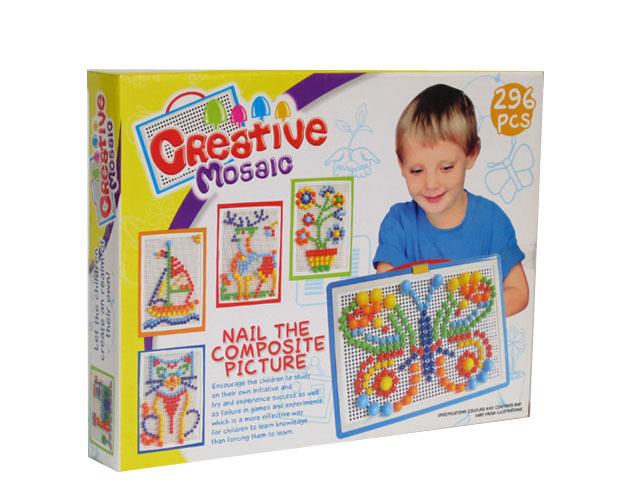 กระดานปักหมุดโมเสก 296 Pcs Creative Mosaic for Smart Kids