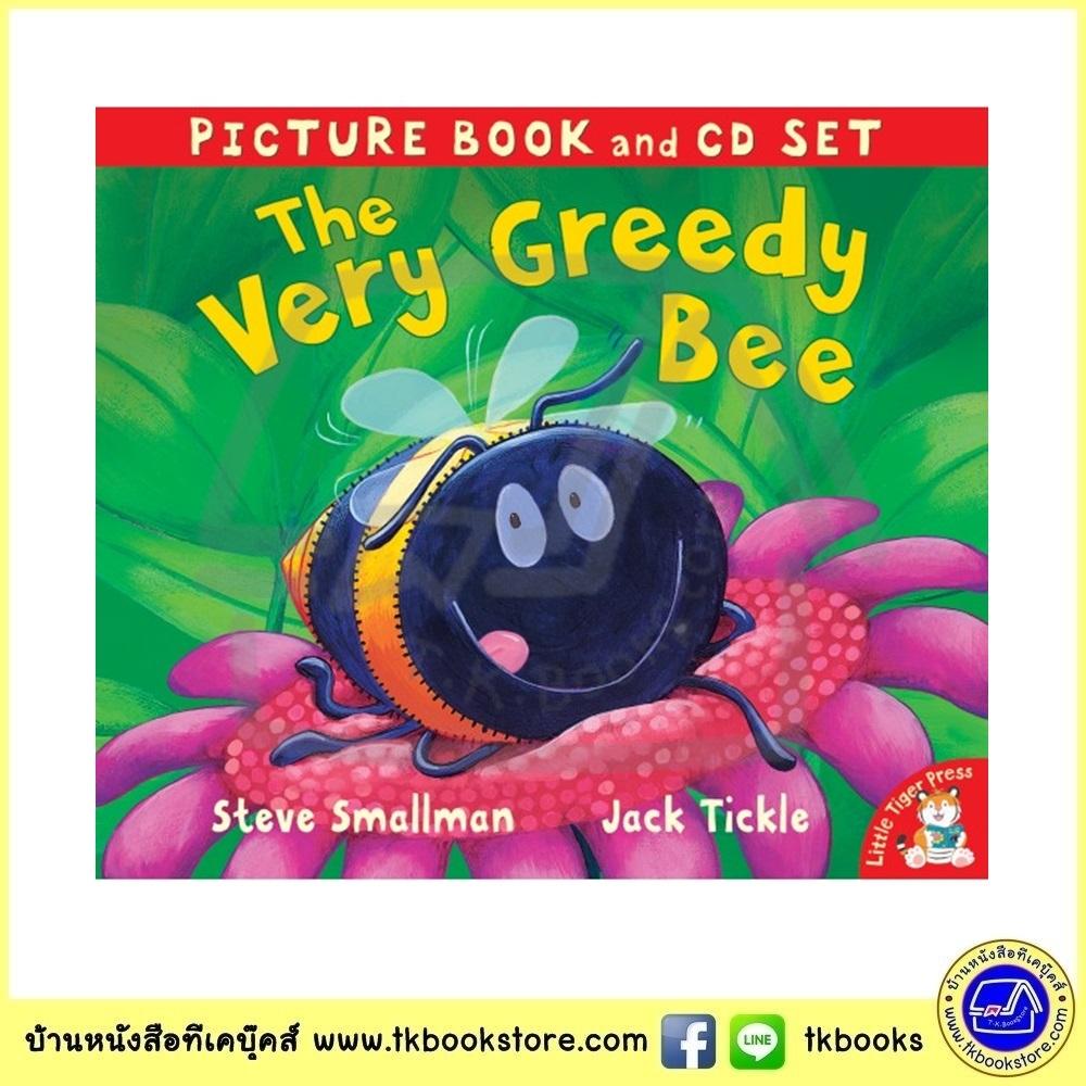 The Very Greedy Bee - Picture Book ad CD Set หนังสือนิทานพร้อมซีดีประกอบ ผึ้งน้อยจอมตะกละ Jack Tickle