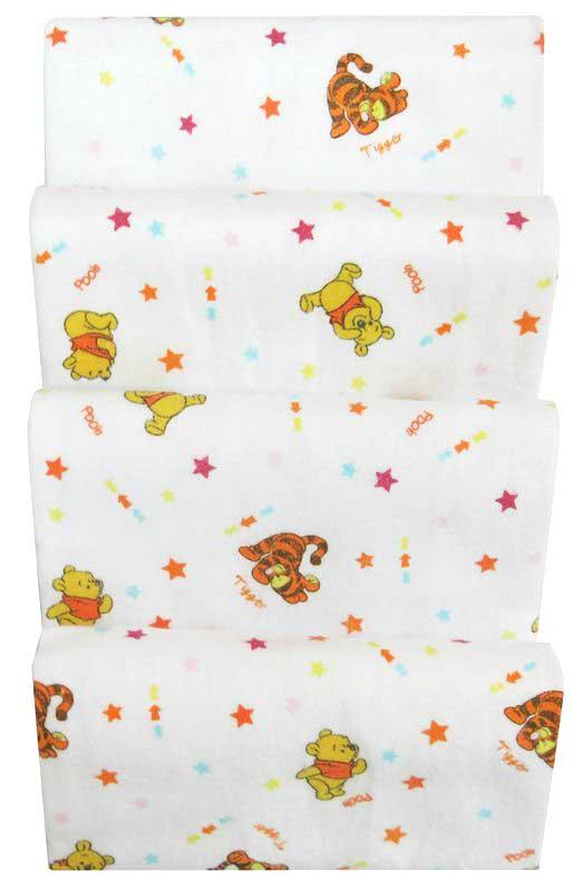 ผ้าอ้อมสำลี Pooh ผ้าฝ้าย 100% Cotton ขนาด 27*27 นิ้ว แพค 6 ผืน