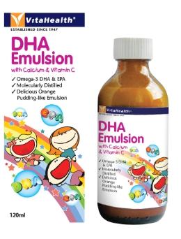 VitaHealth DHA Emulsion with Calcium & Vitamin C 120 ml