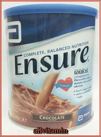 Ensure chocolate Flavored 400 g อาหารผง เอนชัวร์ กลิ่นช็อคโกแลต 400 กรัม