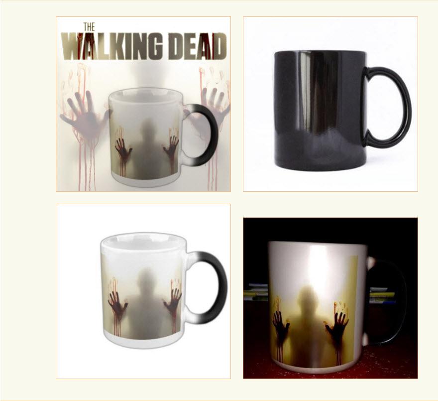 แก้วเปลี่ยนสีตามอุณหภูมิ Walking Dead Walking dead mug
