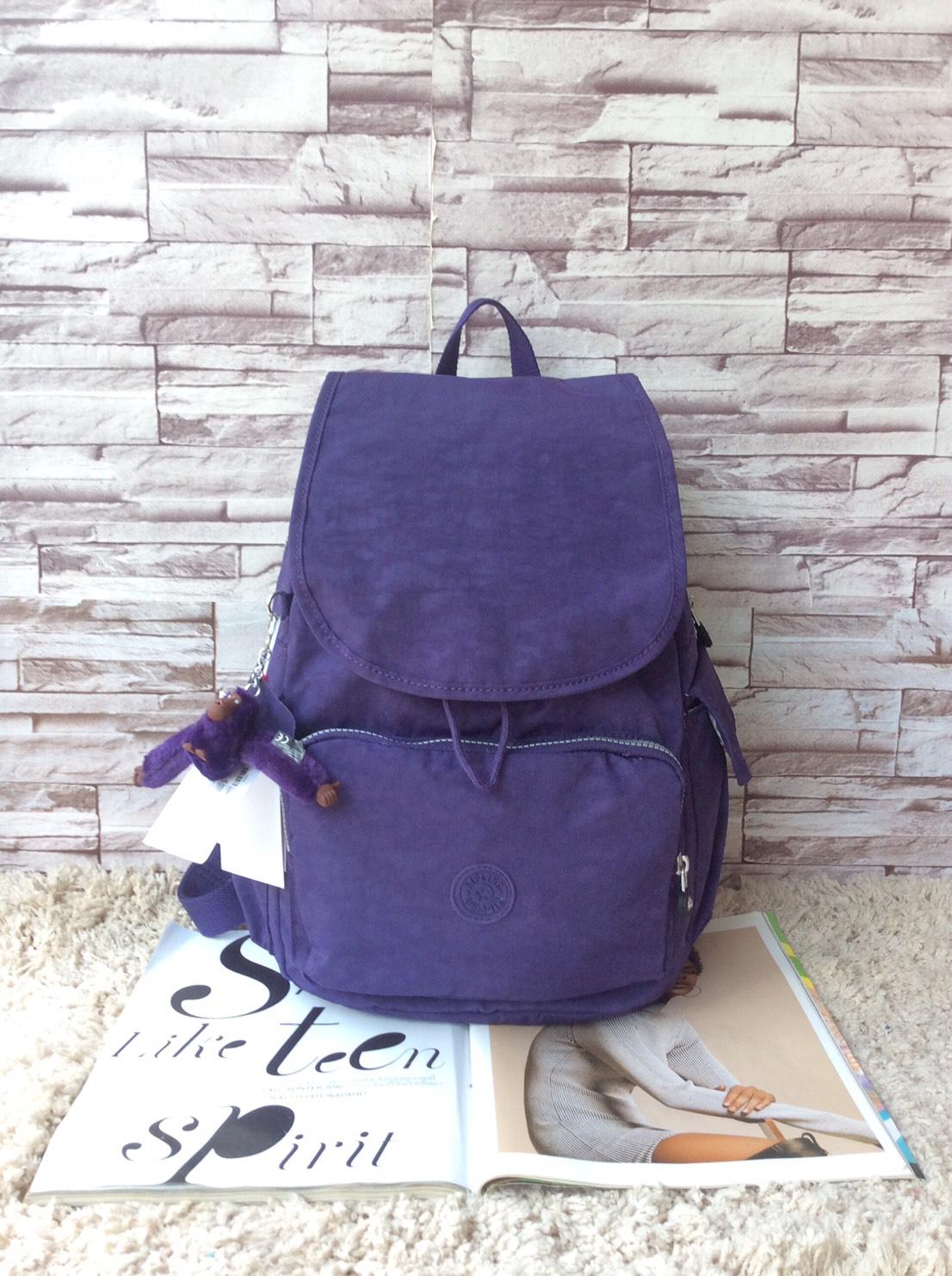 กระเป๋าเป้ KIPLING K 12147 CITY PACK B OUTLET HONG KONG สีม่วง