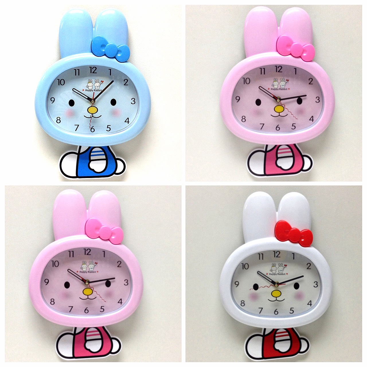 นาฬิกาแขวนผนังกระต่าย < พร้อมส่ง >