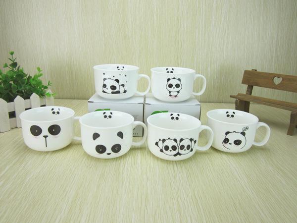 แก้วกาแฟเซรามิคลายหมีแพนด้า <พร้อมส่ง>