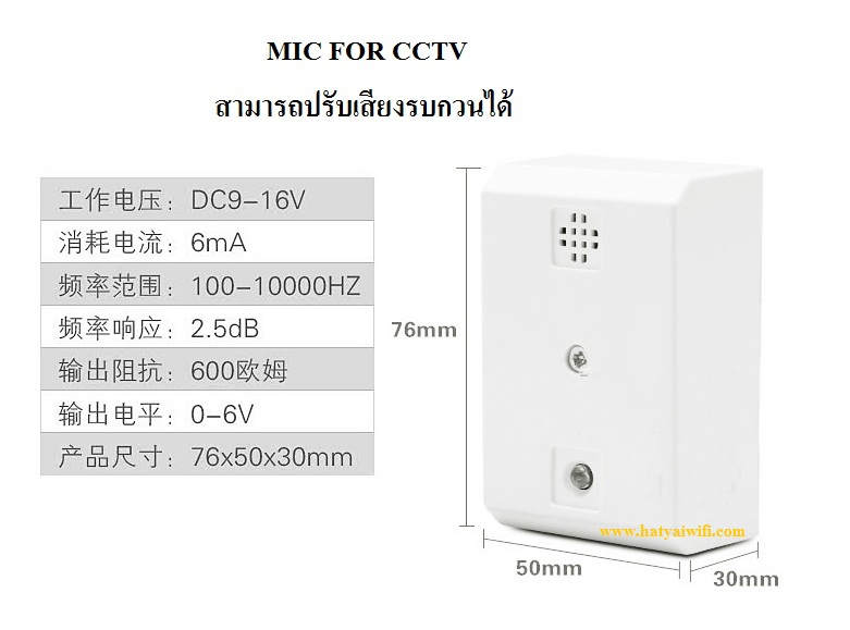 MIC FOR CCTV