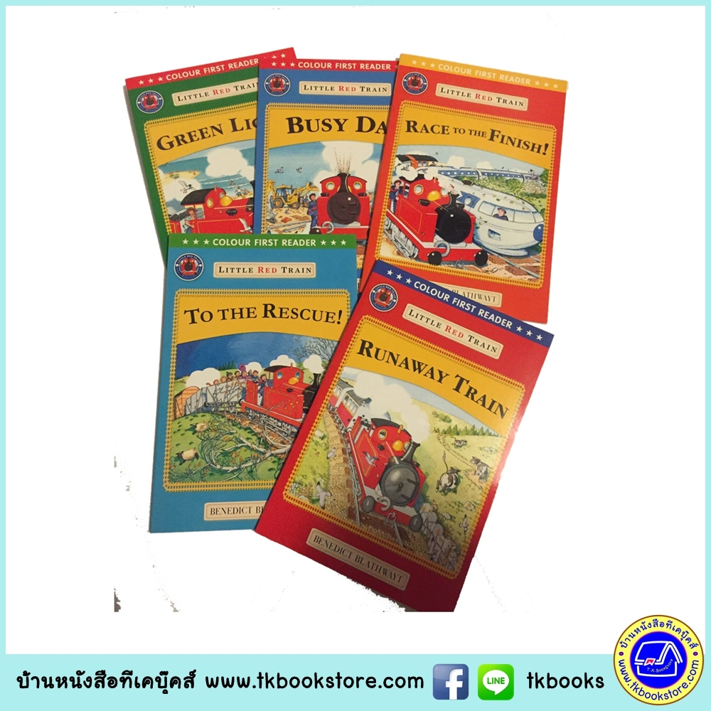 Benedict Blathwayt : Little Red Train : Colour First Reader 5 Books Set เซตหนังสือส่งเสริมการอ่าน 5 เล่ม