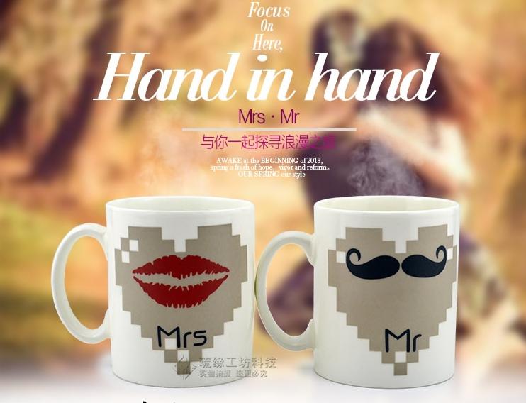แก้วน้ำเปลี่ยนรูป Mr & Mrs <พร้อมส่ง>