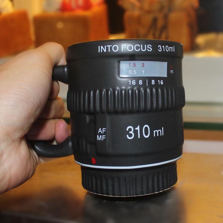 แก้วกาแฟเลนส์กล้อง INTO Focus 310ml <พร้อมส่ง>