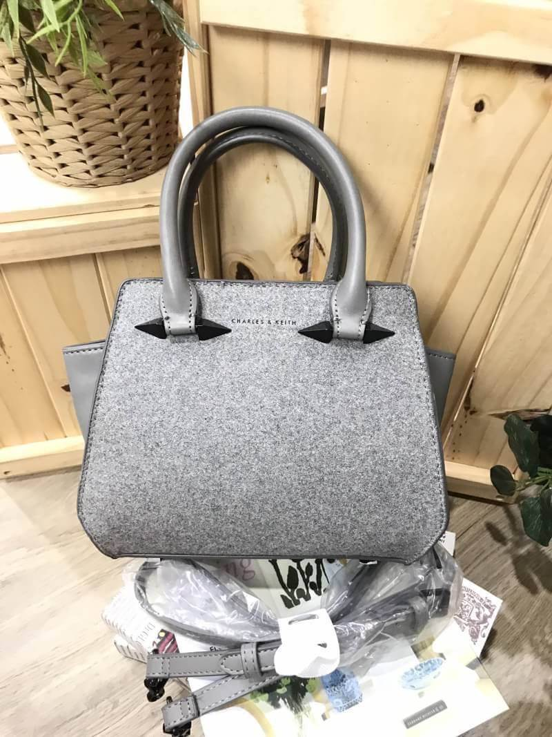CHARLES & KEITH Trapeze Bag Metallic Color