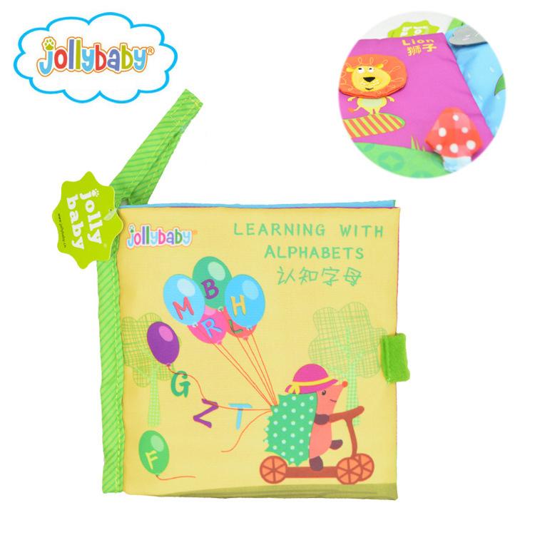 หนังสือผ้า Learning with Alphabets by Jollybaby
