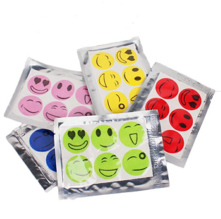 [ฟรี เมื่อซื้อครบ 1,000][แพค 5 ซอง] สติ๊กเกอร์กันยุง Smiley สำหรับเด็กทารกและทุกคนในครอบครัว
