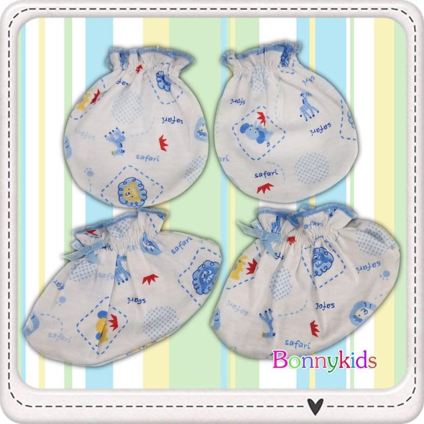 ถุงมือถุงเท้า cotton 100% (แพ็ค 6 เซ็ต)