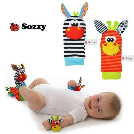 Set สายรัดข้อมือ-ถุงเท้า เสริมพัฒนาการ Sozzy ยีราฟ-ม้าลาย