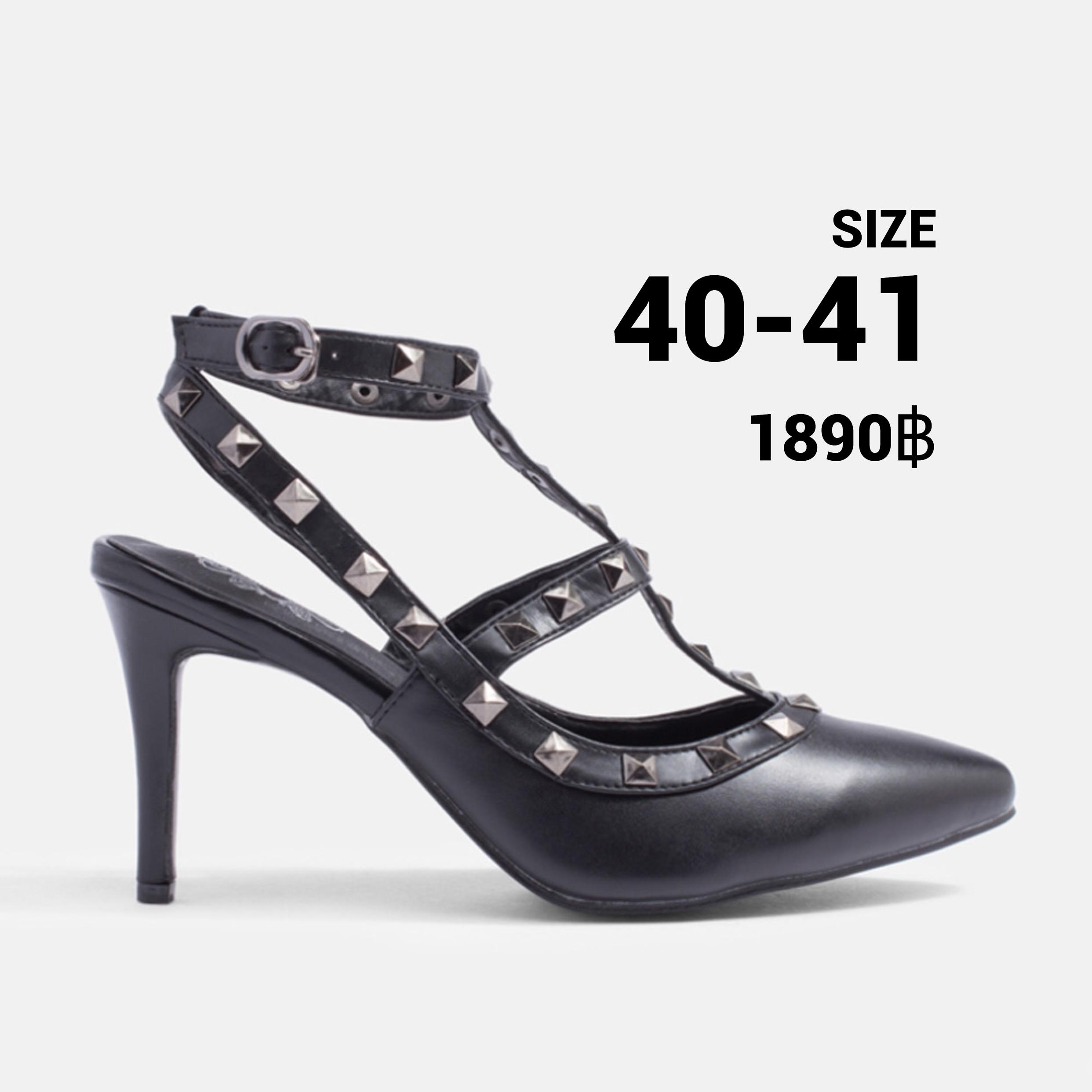 รองเท้าส้นสูงไซส์ใหญ่ 40-41 EU Valentino Metal Strappy Pointed Toe รุ่น CH0132