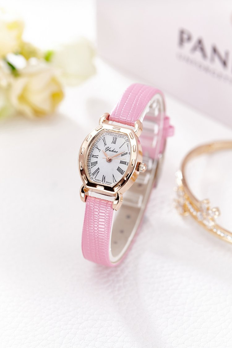 นาฬิกาแฟชั่นผู้หญิง(สีชมพู)