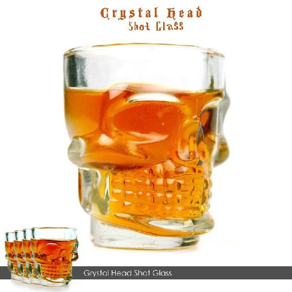 แก้วช็อตหัวกะโหลก Crystal Head shot Glass ชุด 4 ใบ