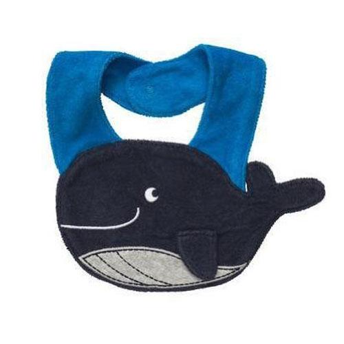 ผ้ากันเปื้อน ซับน้ำลาย Carter 's เนื้อผ้าขนหนู รูปปลาวาฬ