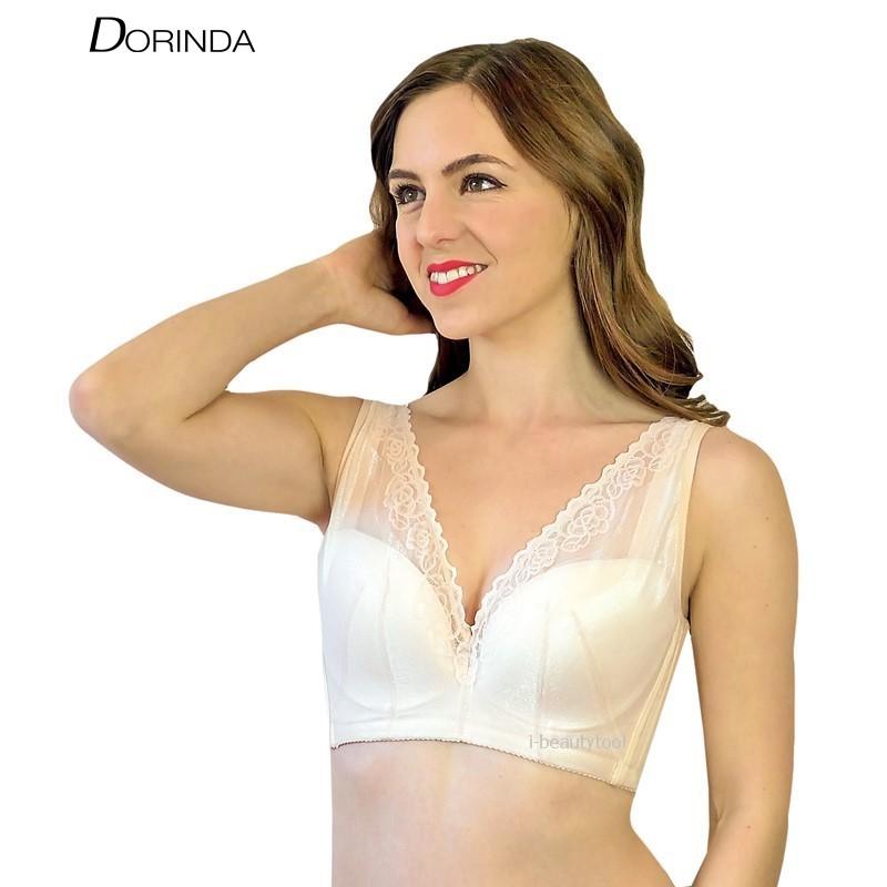 ชุดชั้นใน มีโครง DORINDA เก็บเนื้อใต้รักแร้ รุ่น V-Cover - สีเนื้อ