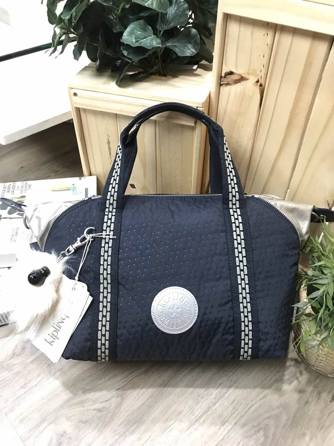 KIPLING ART TOTE BAG Limited Edition Nylon+Polyester 100% *