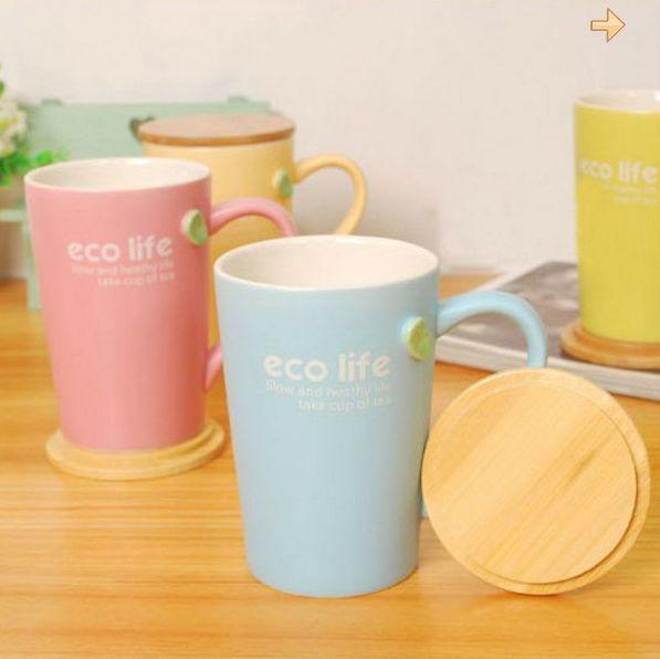 แก้วเซรามิค eco life รักษ์โลก (ทรงสูง) <พร้อมส่ง>