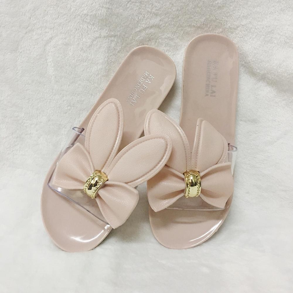 รองเท้าแตะ กระต่ายน้อย น่ารักๆ ไซส์ปกติ 36-40 รุ่น KR0582