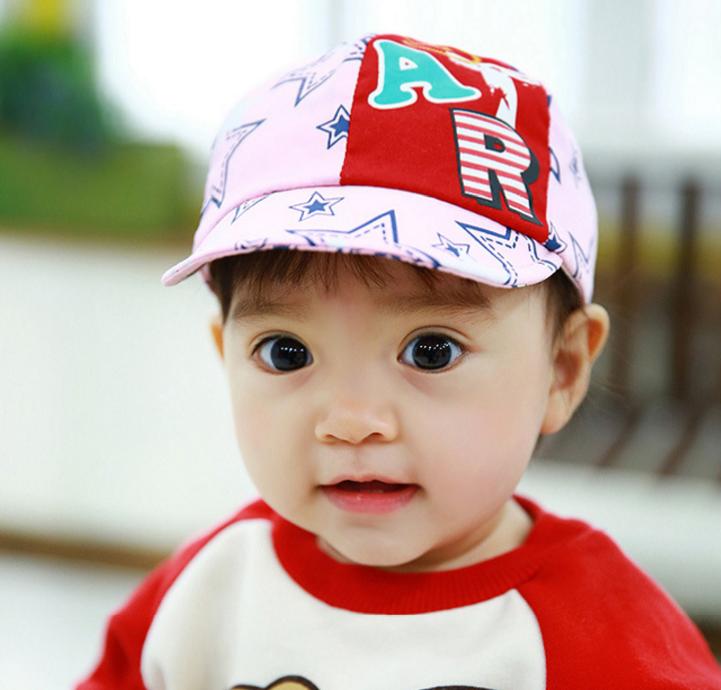 HT371••หมวกเด็ก•• / หมวกแก็ป STAR (สีชมพู)