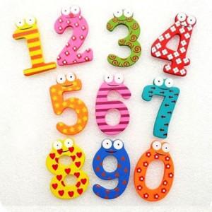 ของเล่นไม้ชุดแม่เหล็กตัวเลข 0-9 แฟนซี รวม 10 ชิ้น