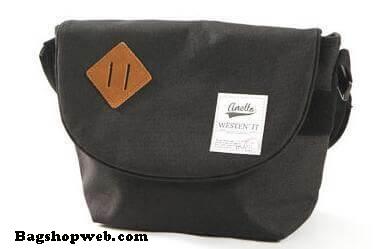กระเป๋า ANELLO POLYESTER CANVAS SHOULDER BAG สีดำ