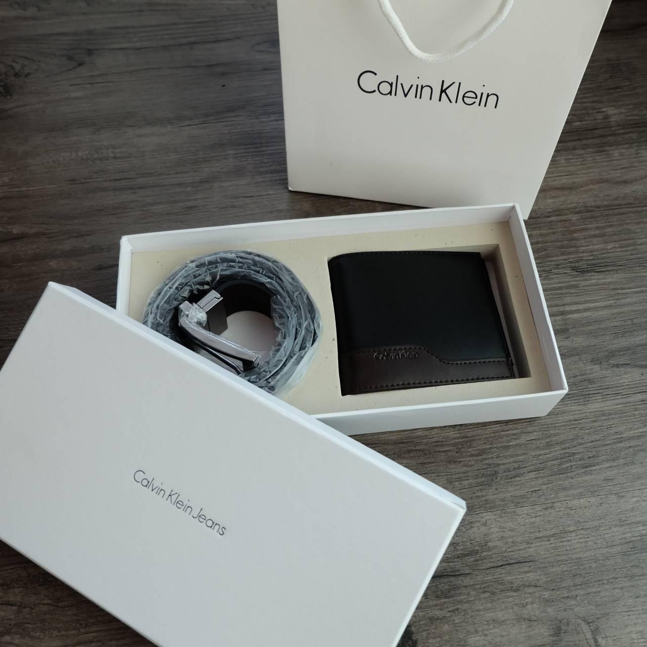 Calvin Klein Leather Belt & Wallet