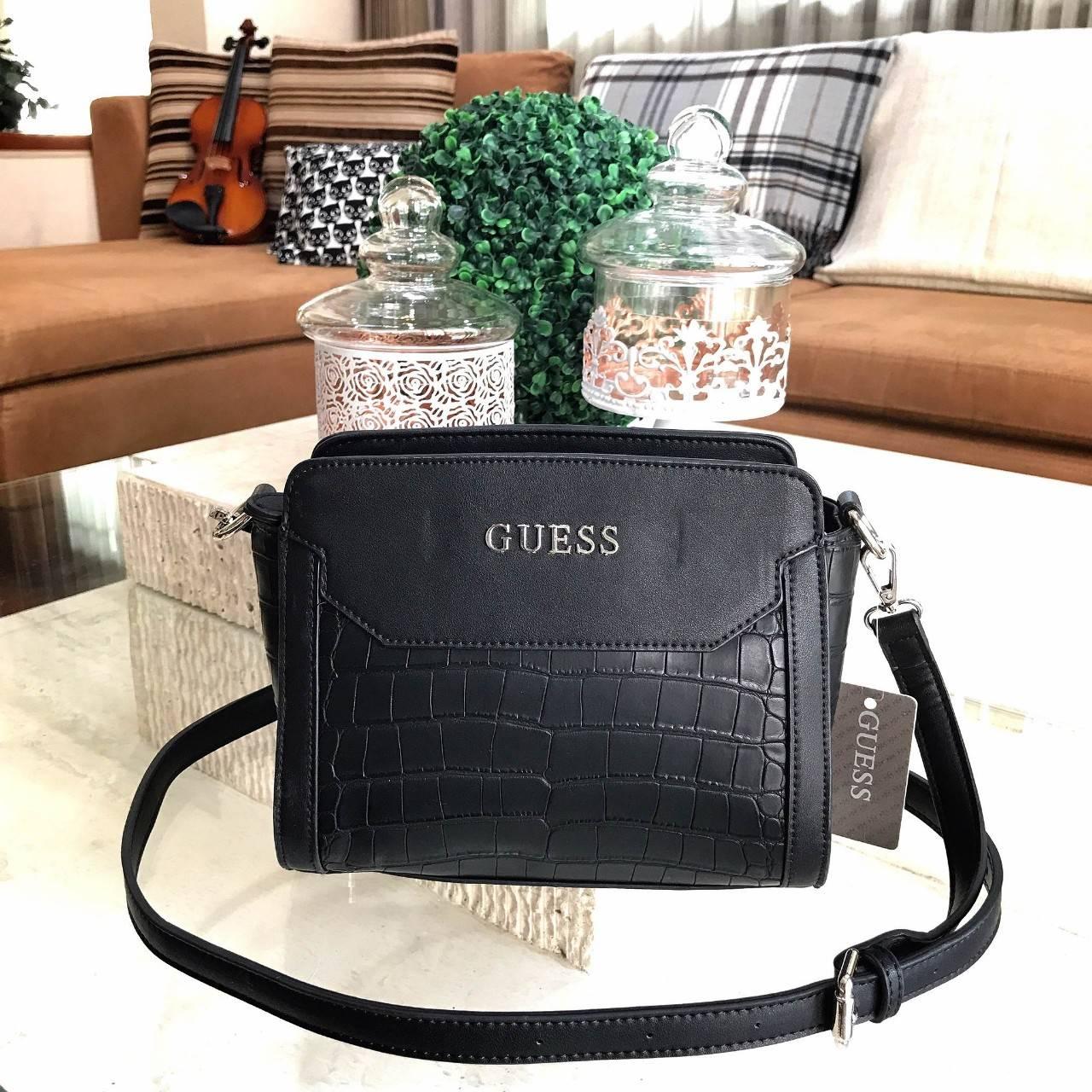 GUESS CROC SHOULDER BAG 2017 กระเป๋าสะพายรุ่นใหม่ล่าสุดจาก GUESS
