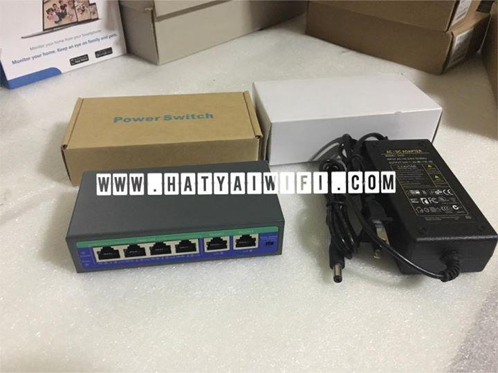 POE Switch 4+2 /100 พร้อม Adapter24V2A