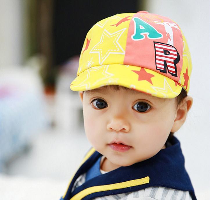 HT370••หมวกเด็ก•• / หมวกแก็ป STAR (สีเหลือง)