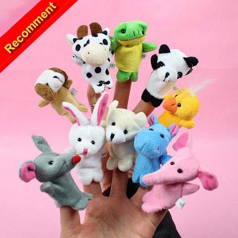 ตุ๊กตานิ้วมือ หุ่นตุ๊กตาสัตว์ สวมนิ้วมือ Set 10 ตัว แบรนด์ NanaBaby
