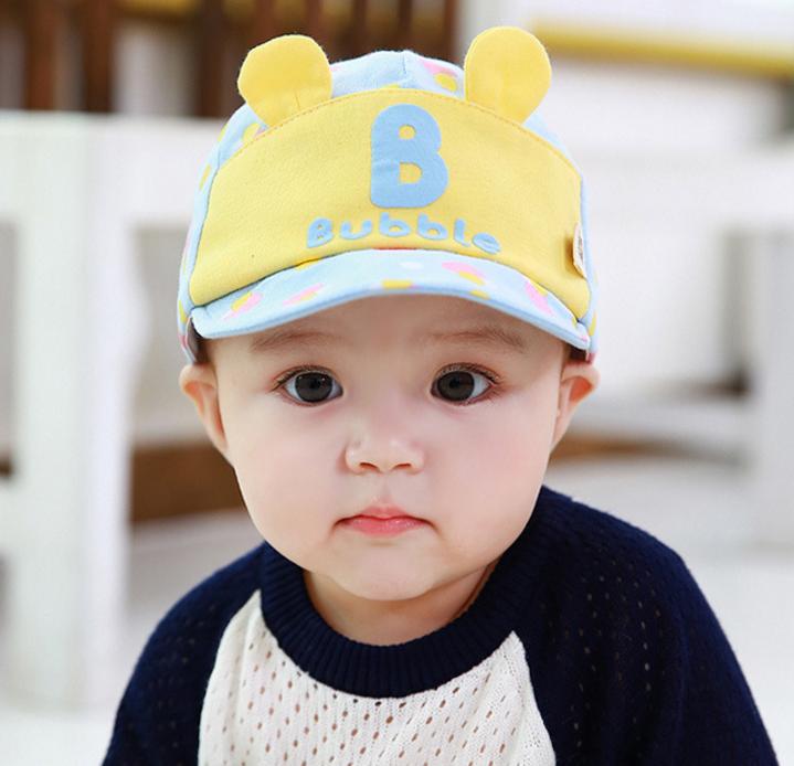 HT366••หมวกเด็ก•• / หมวกแก็ป Bubble (ปีกสีฟ้า)