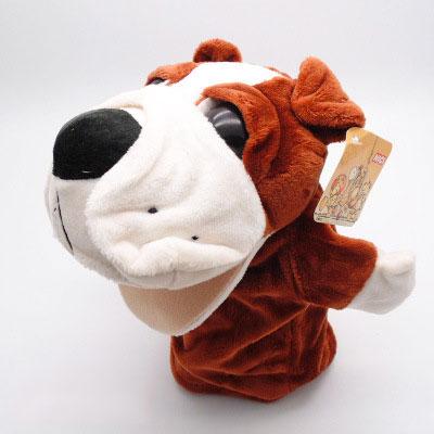 ตุ๊กตามือหมาบลูด็อก หัวใหญ่ ขนนุ่มนิ่ม สวมขยับปากได้