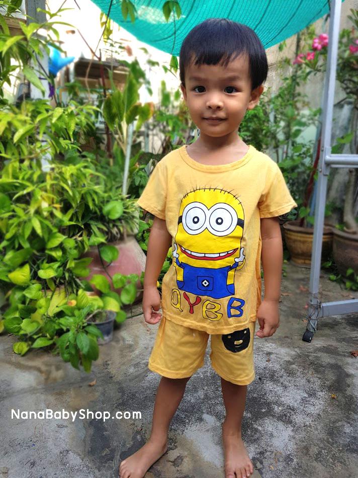 ชุดเด็กมินเนี่ยน เสื้อยืด+กางเกงขาสั้นเอวยางยืด สำหรับเด็กวัย 2-8 ปี